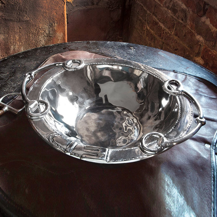 Snaffle Bit Equestrian Party Bowl - Medium by Beatrice Ball