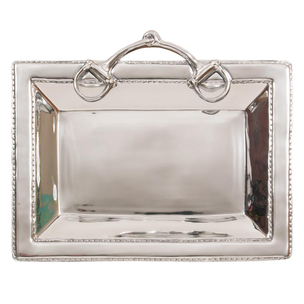 Snaffle Bit Equestrian Serving Tray by Beatrice Ball