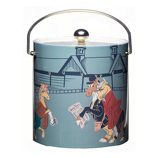 Day at the Races Insulated Ice Bucket - Art by Depler