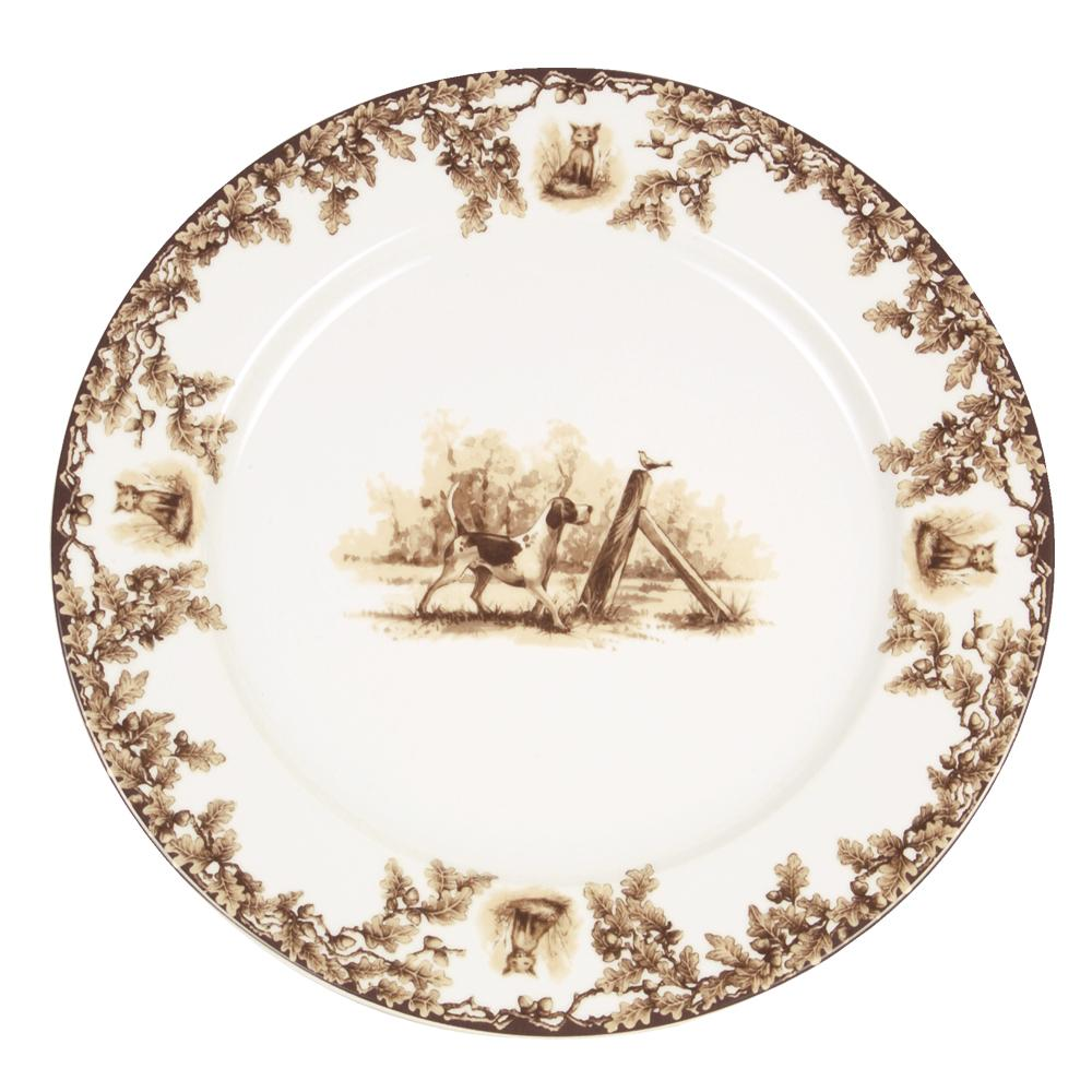 Aiken Hunt Dinnerware Charger - Hound
