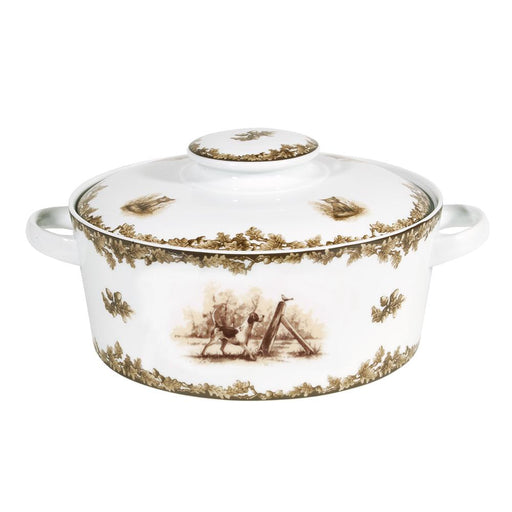 Aiken Hunt Dinnerware Covered Casserole -Hound