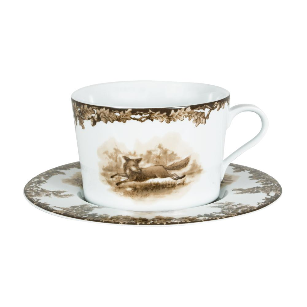 Aiken Hunt Dinnerware Cup & Saucer - Fox