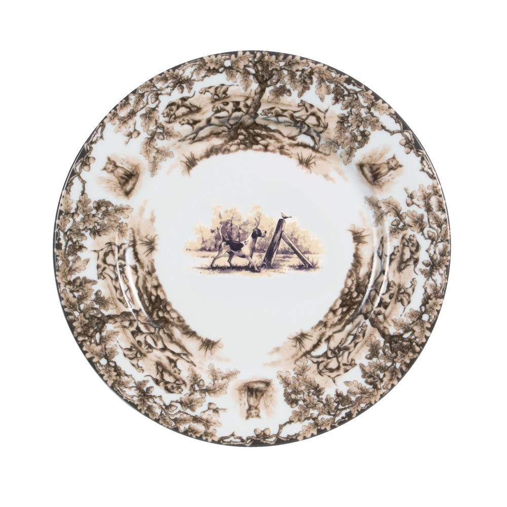 Aiken Hunt Dinnerware Dinner Plate - Hound