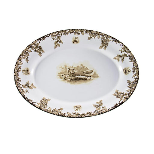 Aiken Hunt Dinnerware Oval Serving Platter - Fox