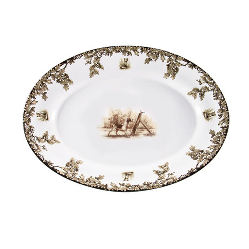 Aiken Hunt Dinnerware Oval Serving Platter - Hound