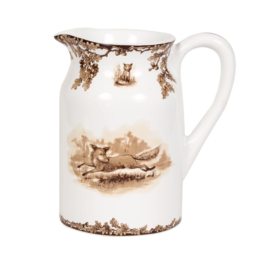 Aiken Hunt Dinnerware Pitcher- Fox