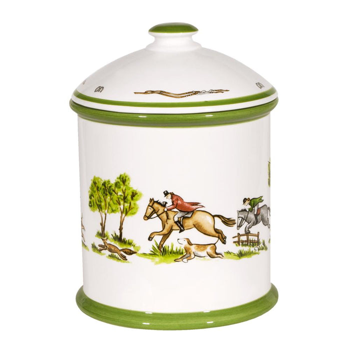 The Chase Foxhunting Cookie Jar Canister