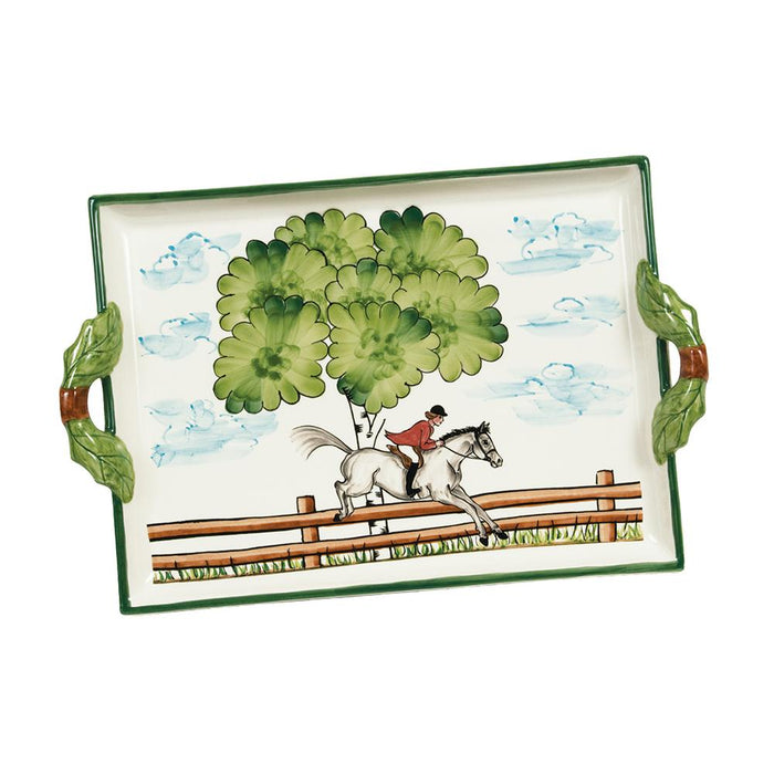 Perfect Day Equestrian Handled Serving Tray