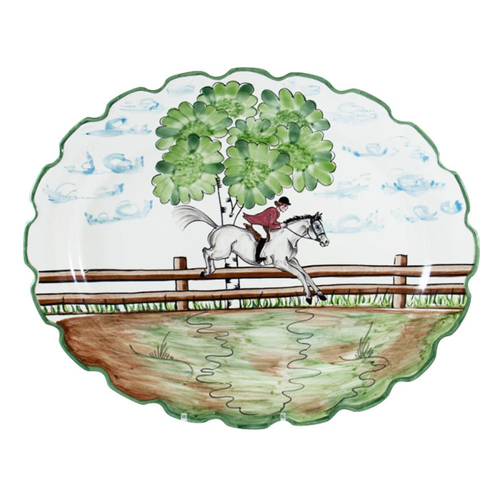 Perfect Day Equestrian Large Oval Platter