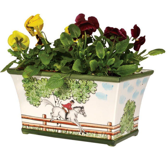 Perfect Day Equestrian Planter Vase
