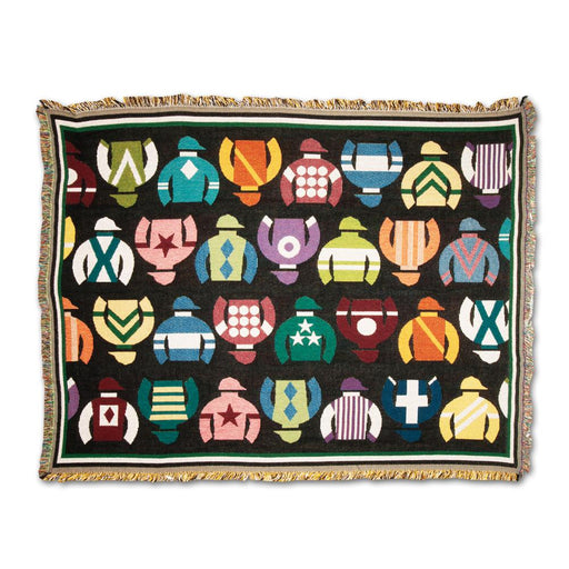 Racing Silks Cotton Throw