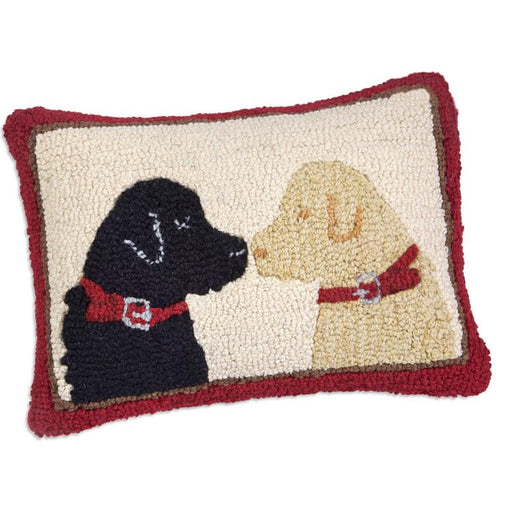 Labrador Friends Hooked Pillow