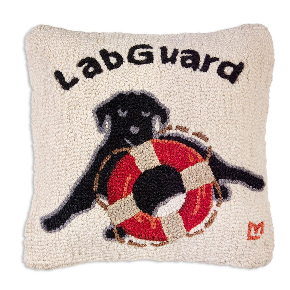 Lab Guard Hooked Dog Pillow