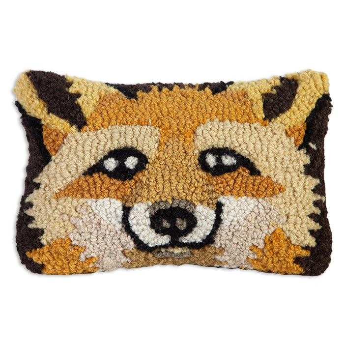 Red Fox Pillow - Hooked Wool