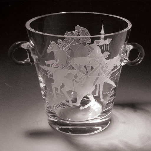 Clubhouse Turn Etched Crystal Ice Bucket