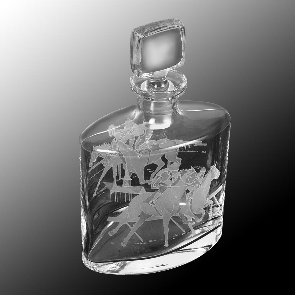 Clubhouse Turn Etched Crystal Decanter