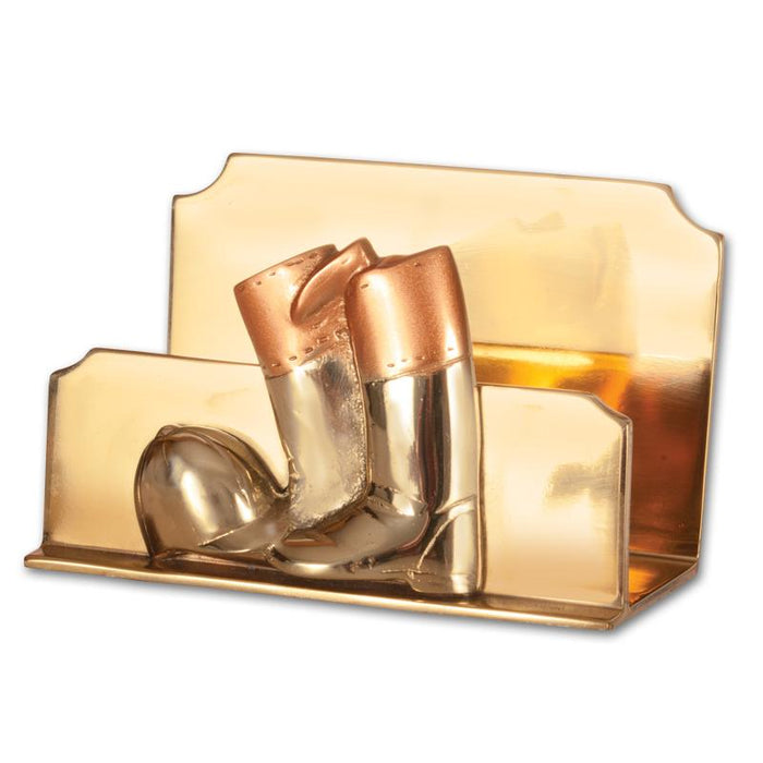 Boots & Helmet Brass Letter - Napkin Holder
