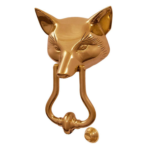 Fox Mask Door Knocker - Brass