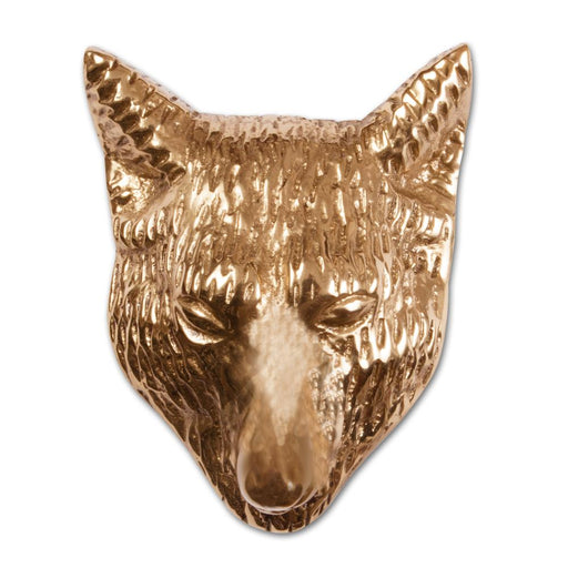 Large Fox Pull - Brass