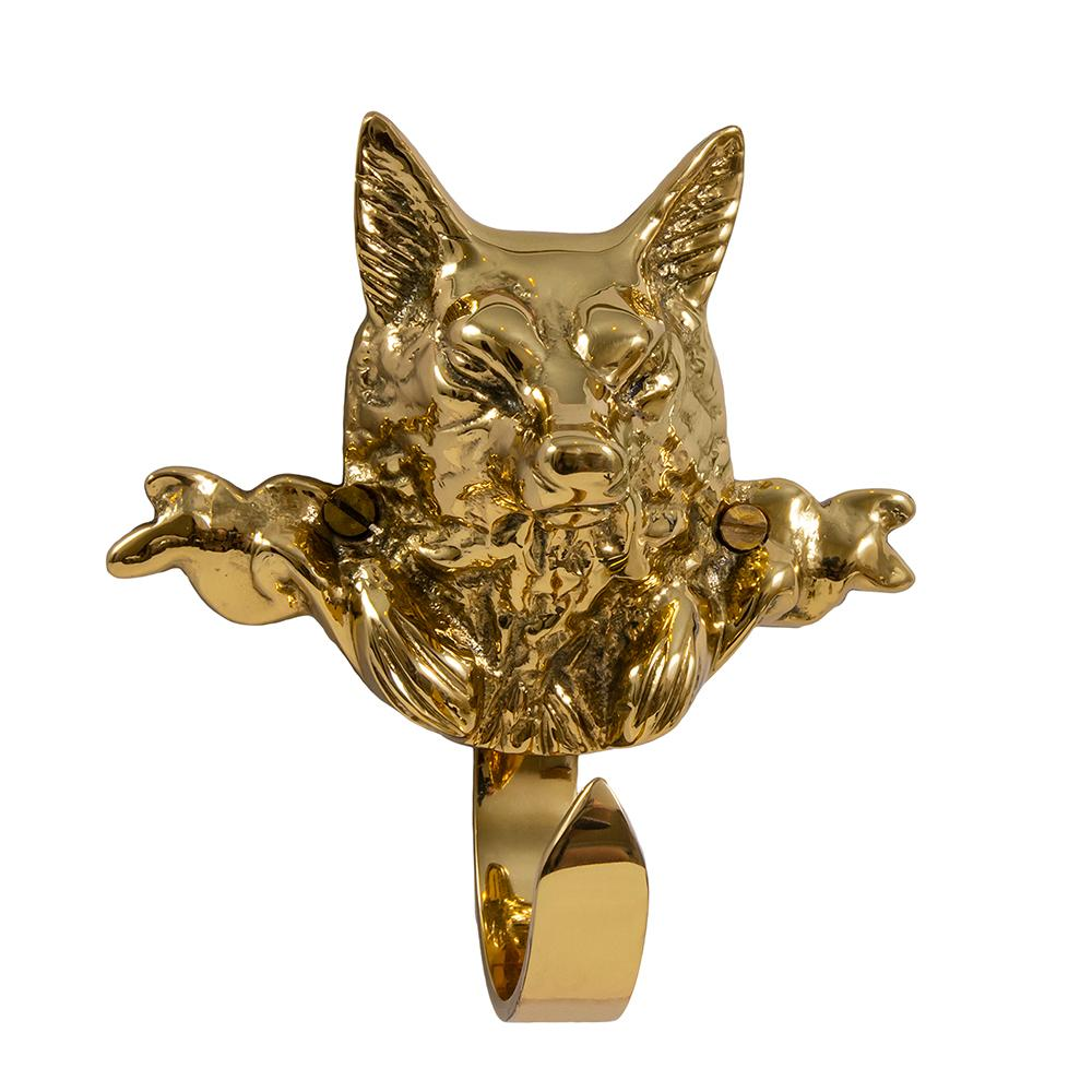 Decorative Fox Hook - Brass