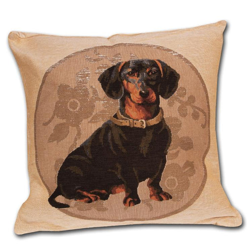 Dachshund Tapestry Pillow