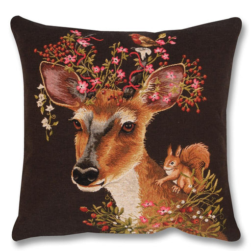 Woodland Fantasy Doe Tapestry Pillow