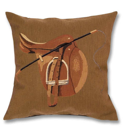 Hunt Saddle Equestrian Tapestry Pillow