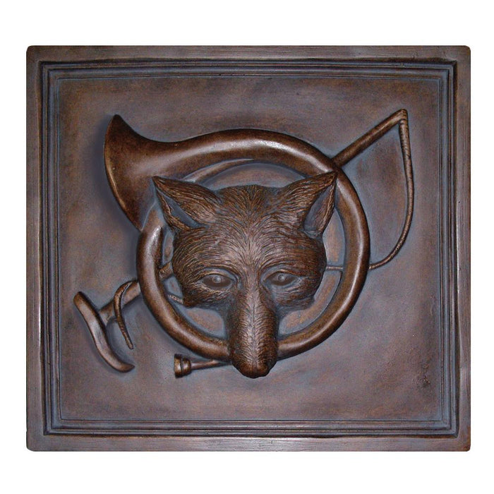 Fox and Horn Wall Plaque