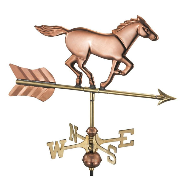 Galloping Horse Copper Weathervane