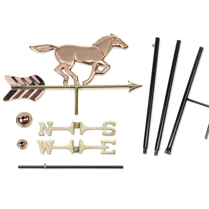 Galloping Horse Weathervane - Copper