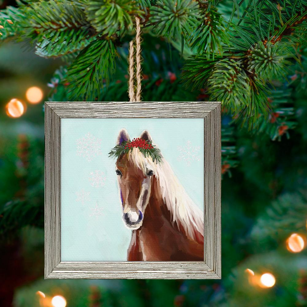 Holiday Horse Framed Ornament