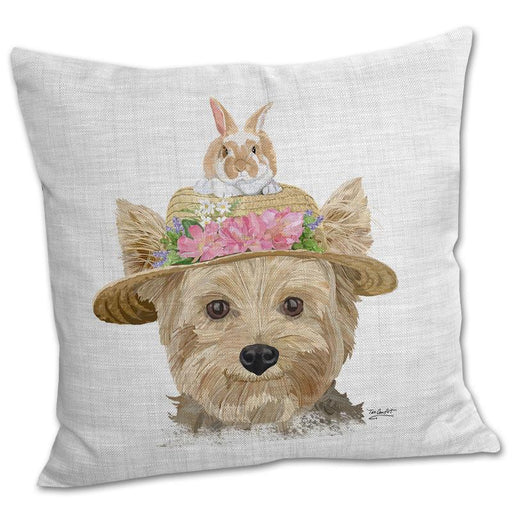 Yorkie Dapper Dog Pillow