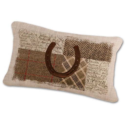 Horseshoe Themed Pillow