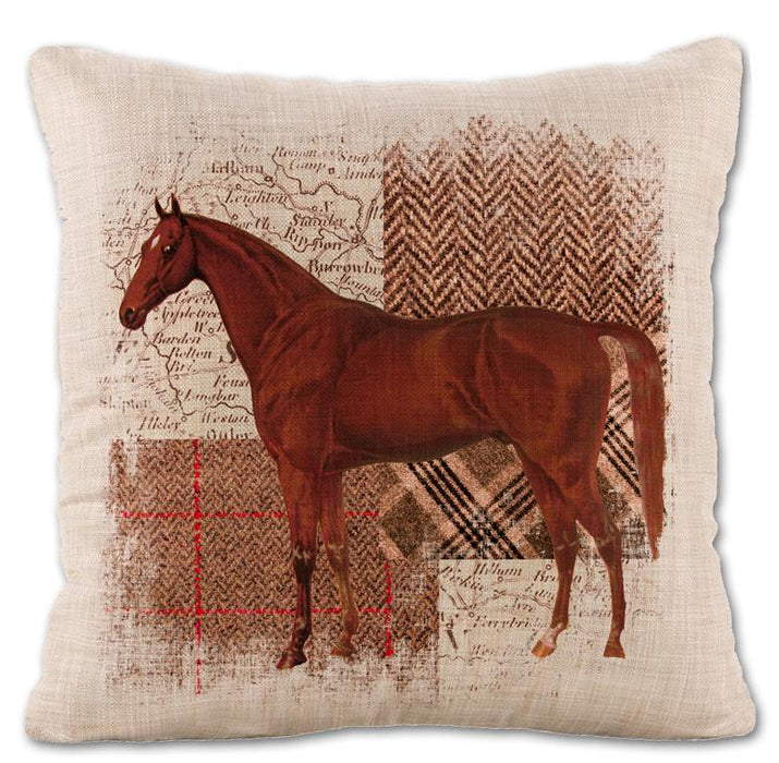 Horse Themed Throw Pillow