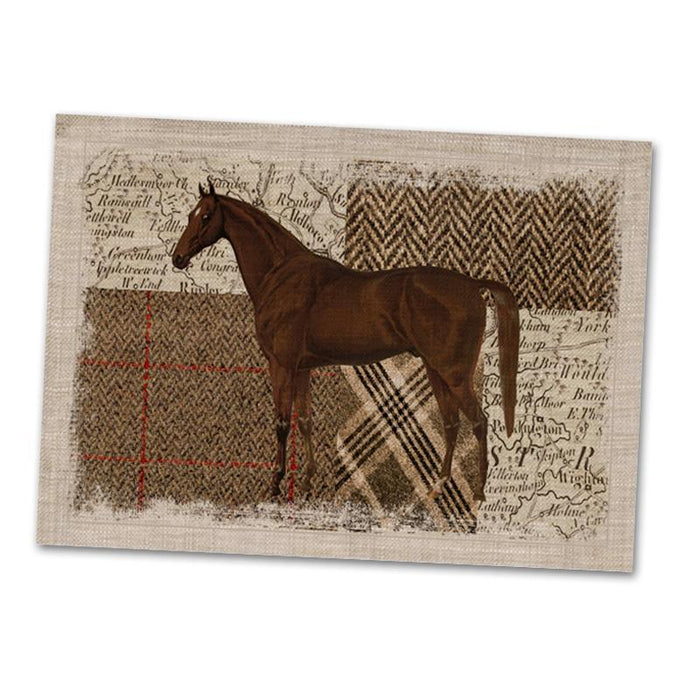 Horse Themed Fabric Placemat