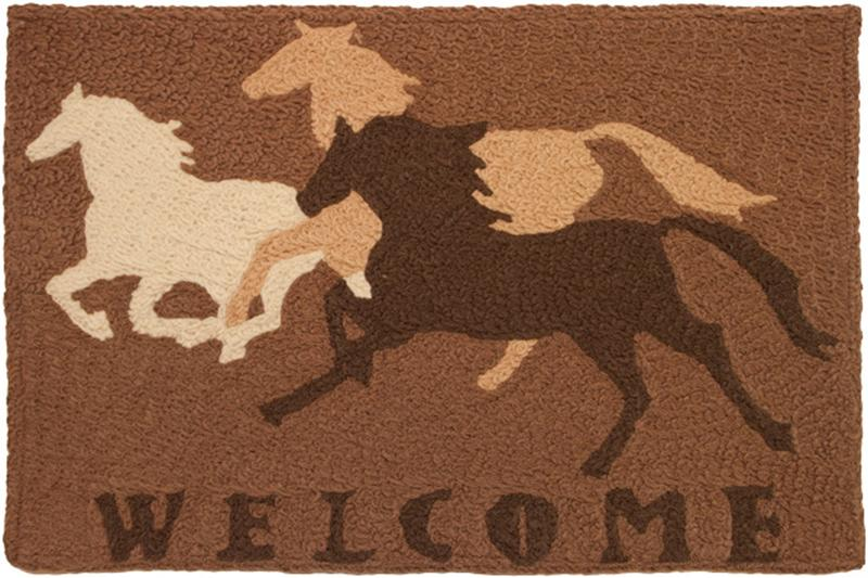 Welcome Horse Washable Rug