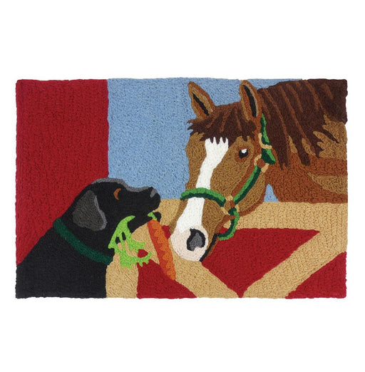 Barn Friends - Horse and Dog Washable Rug