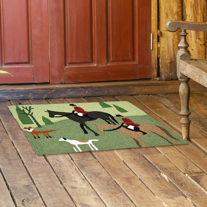 English Fox Hunt Washable Accent Rug