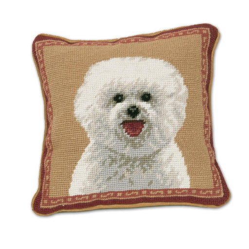 Bichon Needlepoint Dog Pillow