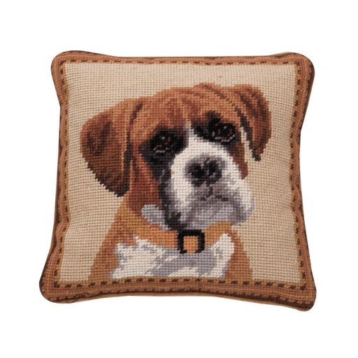 Boxer Dog Needlepoint Dog Pillow