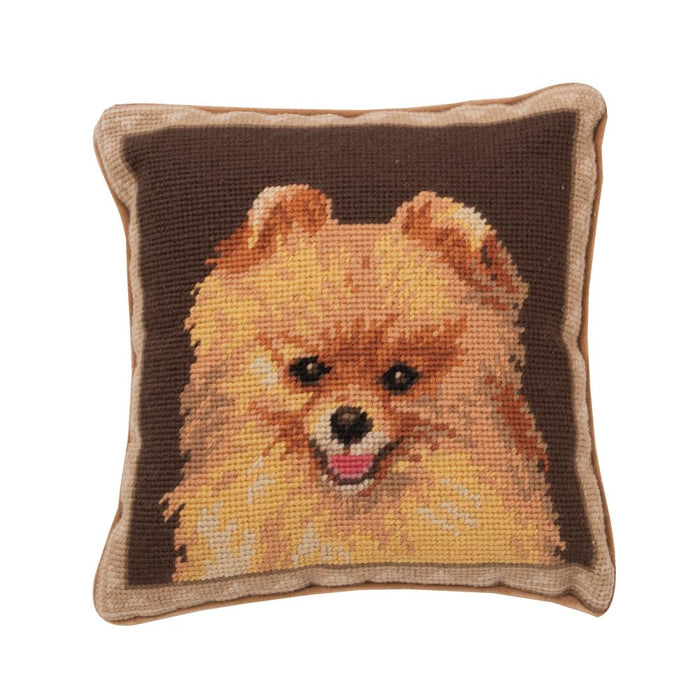 Pomeranian Needlepoint Dog Pillow