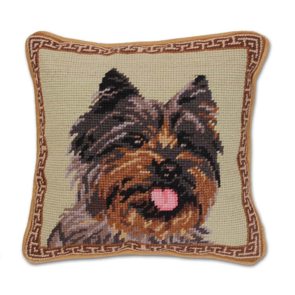 Cairn Terrier Needlepoint Dog Pillow