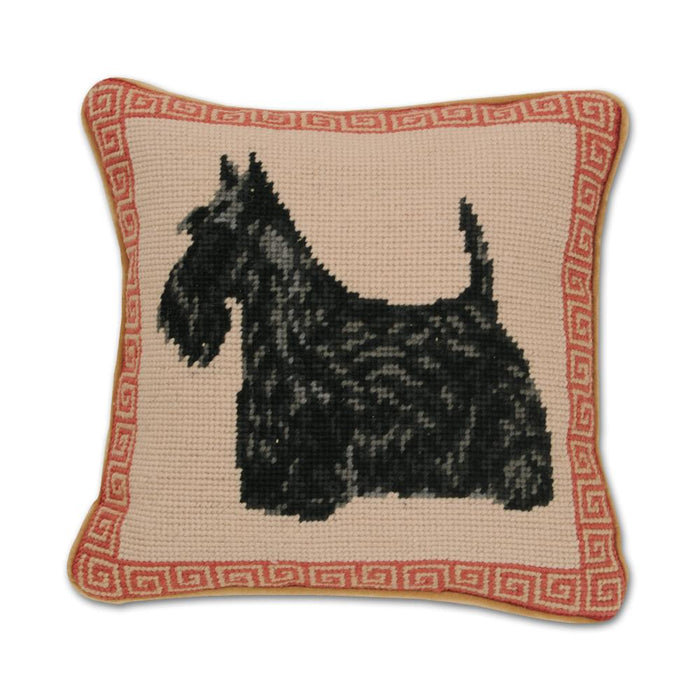 Scottish Terrier Needlepoint Dog Pillow