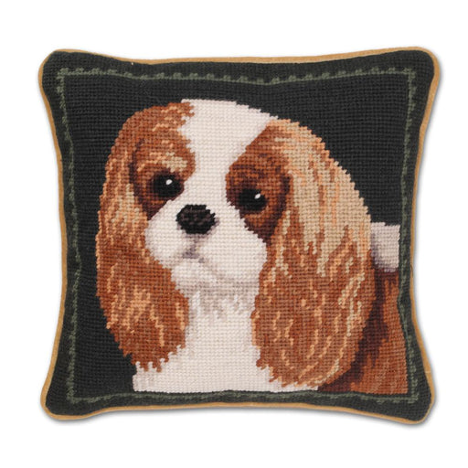 Blenheim Cavalier Portrait Needlepoint Pillow