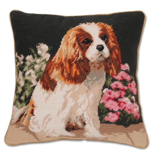 Garden Blenheim Cavalier Needlepint Pillow