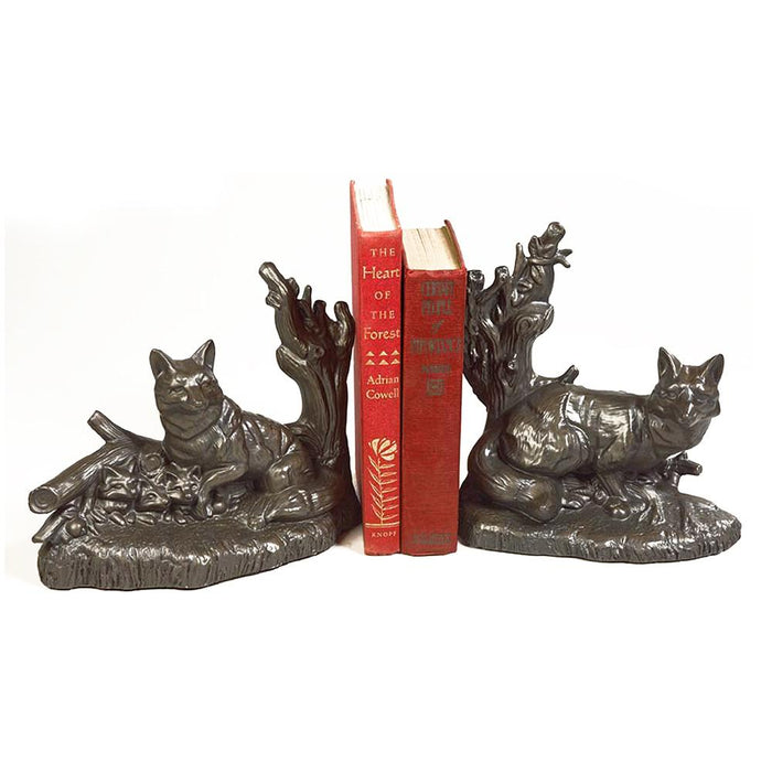 Fox Family Bookends