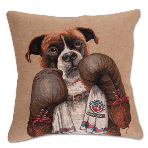 Boxing Boxer Tapestry Dog Pillow