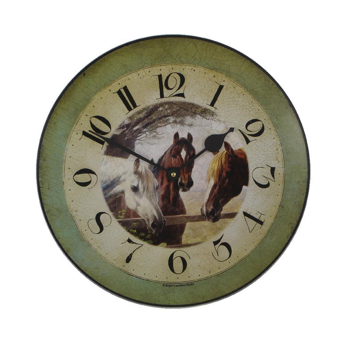 Pasture Friends Horse Wall Clock