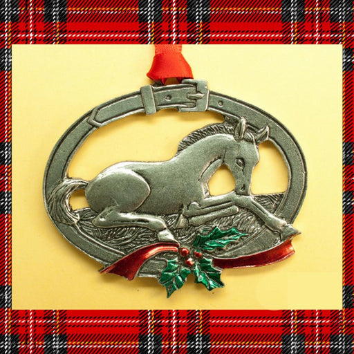 Christmas Foal Pewter Ornament