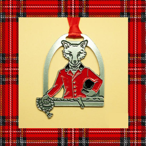 Snooty Fox in Stirrup Pewter Ornament